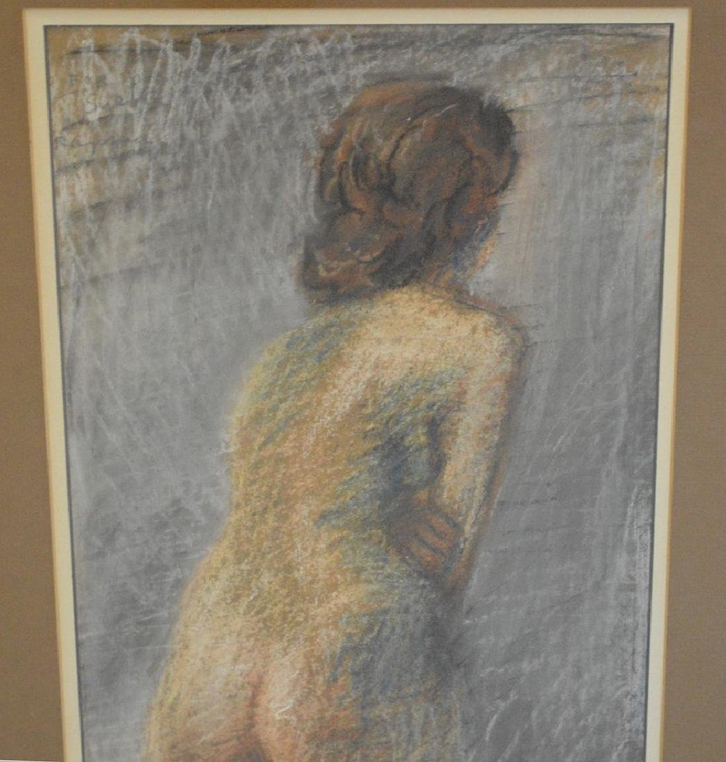 Raphael Soyer Pastel Nude, Russian/American, 20th - 2