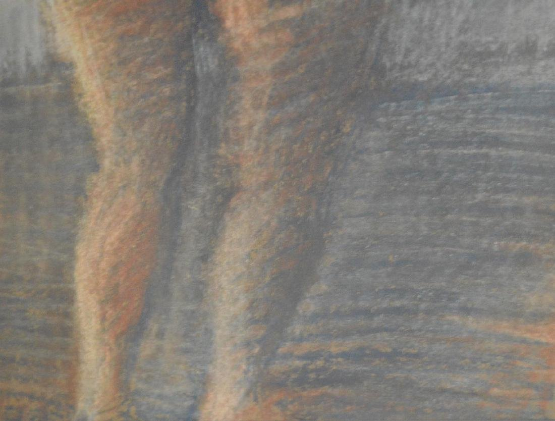 Raphael Soyer Pastel Nude, Russian/American, 20th - 3