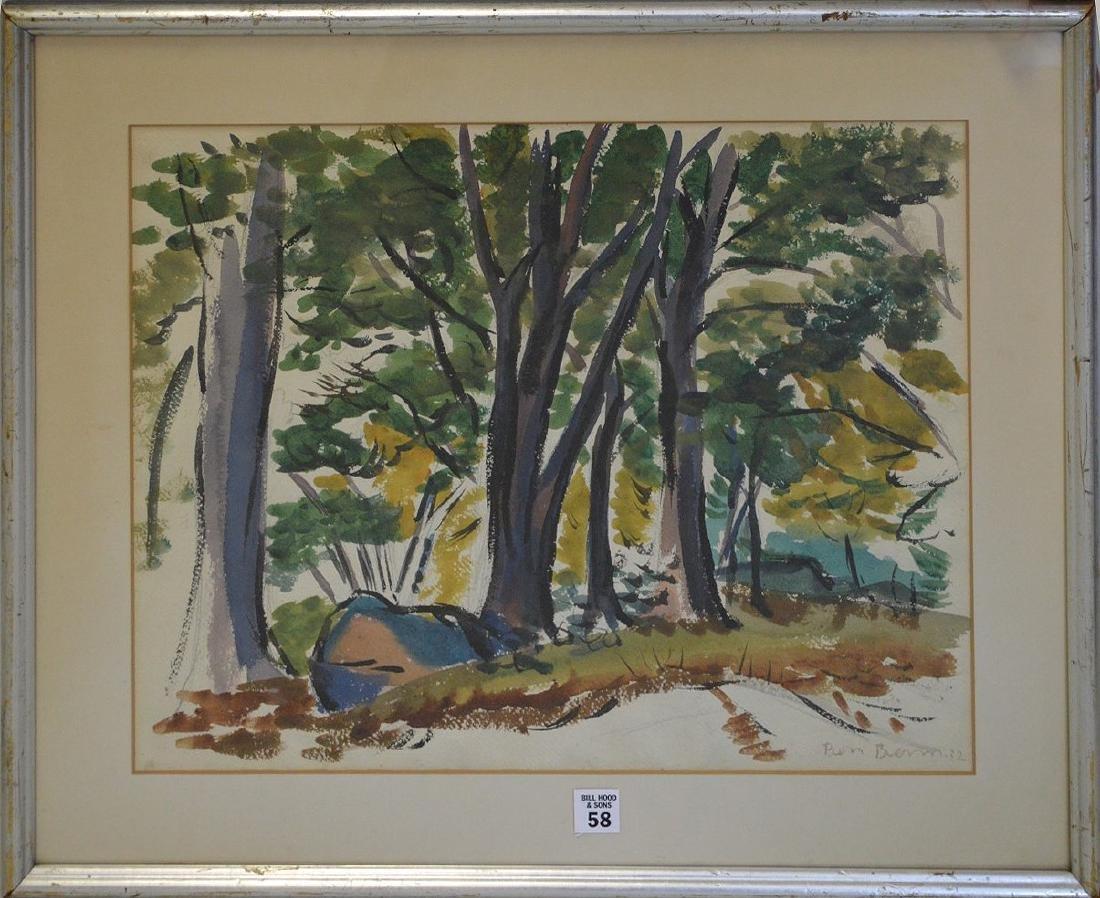 Ben Benn (American 1884 – 1983)  Watercolor on paper,