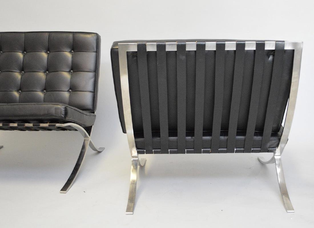 Pr. Barcelona Chairs (2) Black leather, chrome X-form - 4