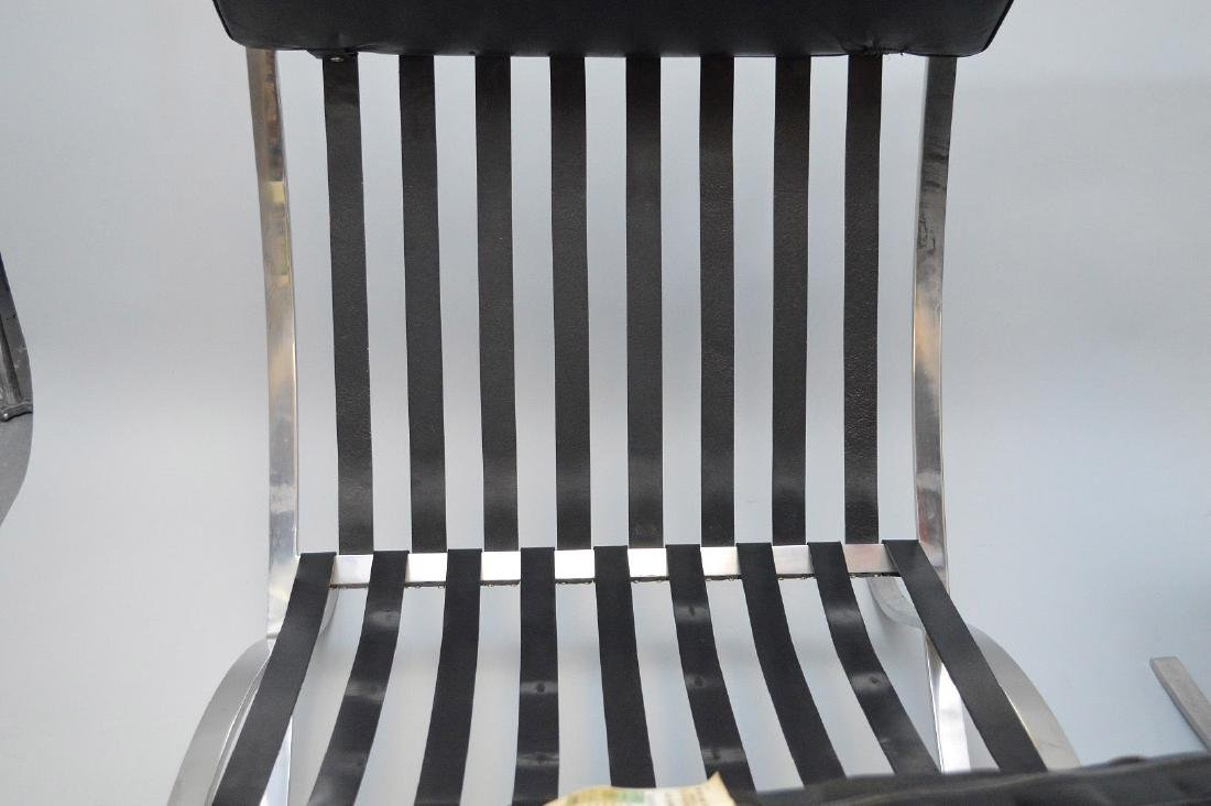 Pr. Barcelona Chairs (2) Black leather, chrome X-form - 5