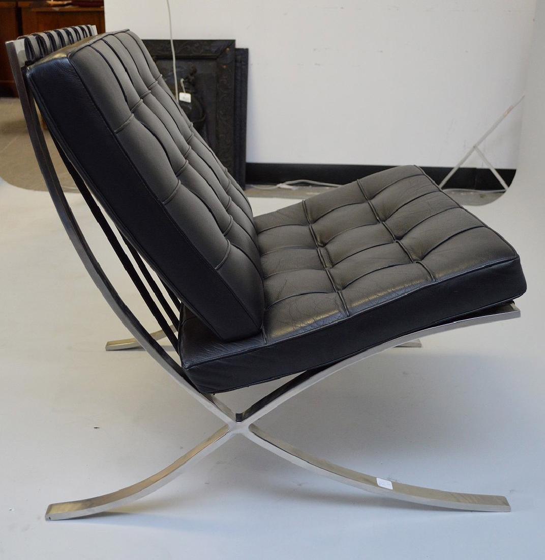 Pr. Barcelona Chairs (2) Black leather, chrome X-form - 7