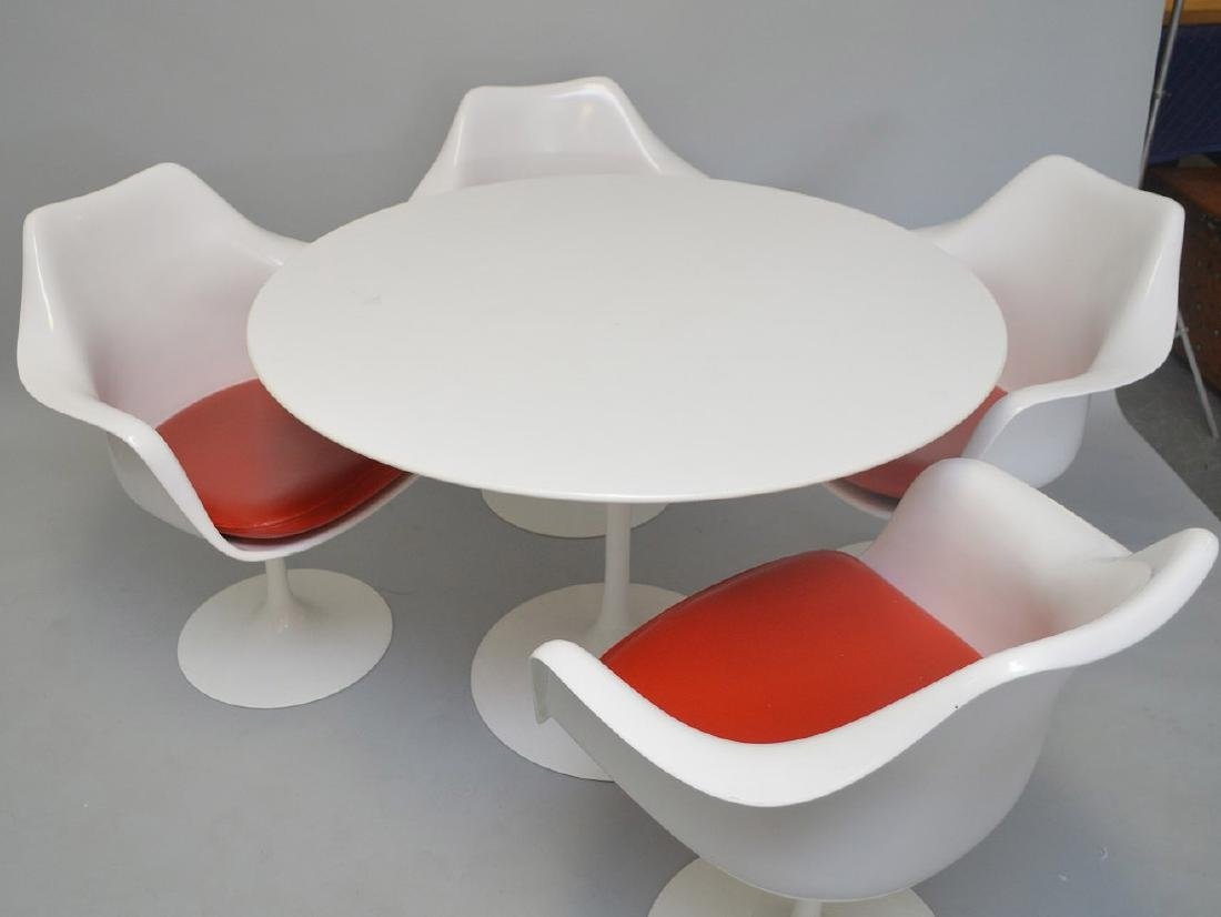 Knoll Studio 1958 Dining Table and 4 Chairs Designed by