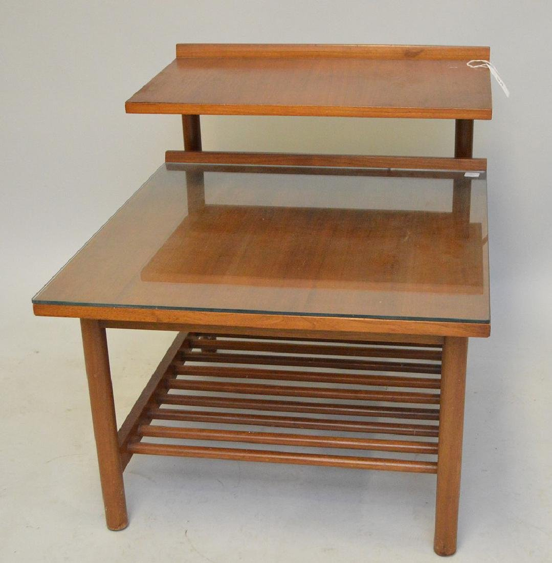 """Stepped 1970's end table, 25""""h x 32""""w x 24""""d"""