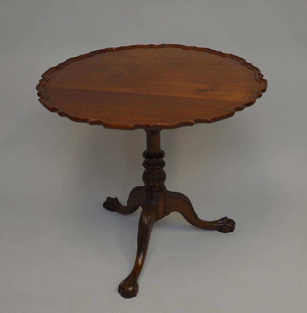 """Tilt top mahogany pie crust table, 30""""h x 32""""d"""