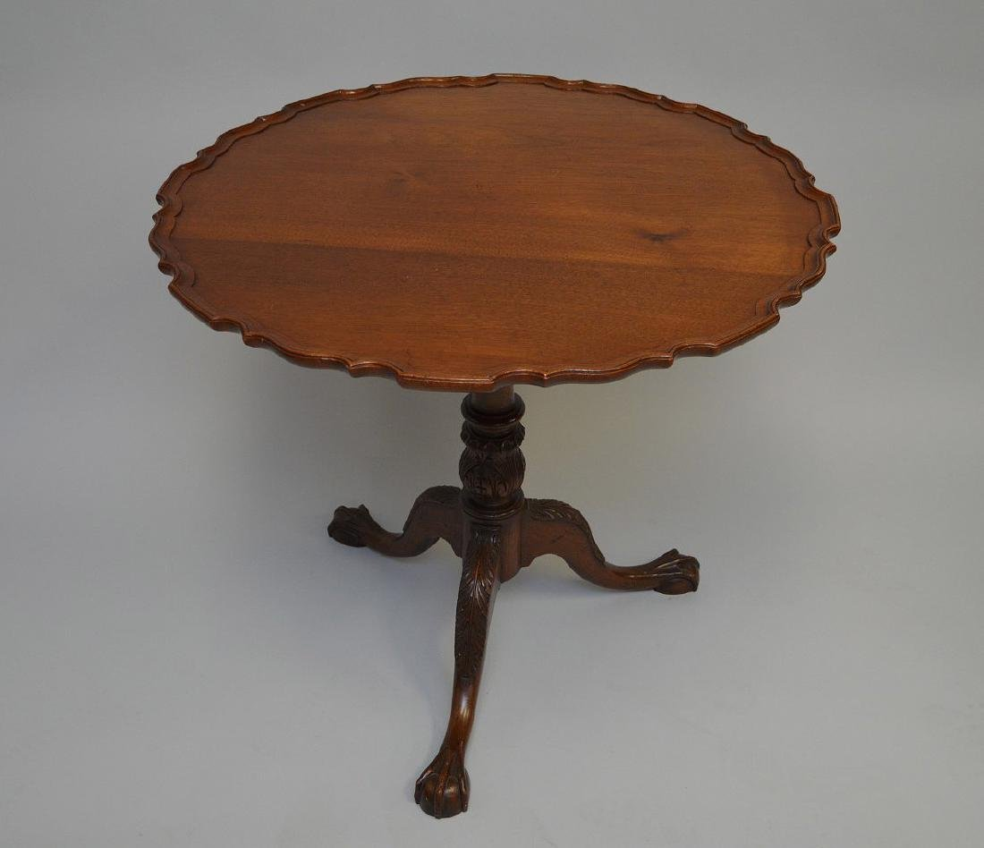 "Tilt top mahogany pie crust table, 30""h x 32""d - 3"