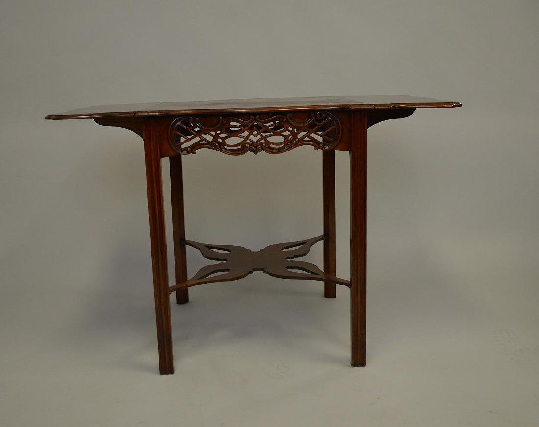 Mahogany Baker drop leaf table, Charleston Museum - 5