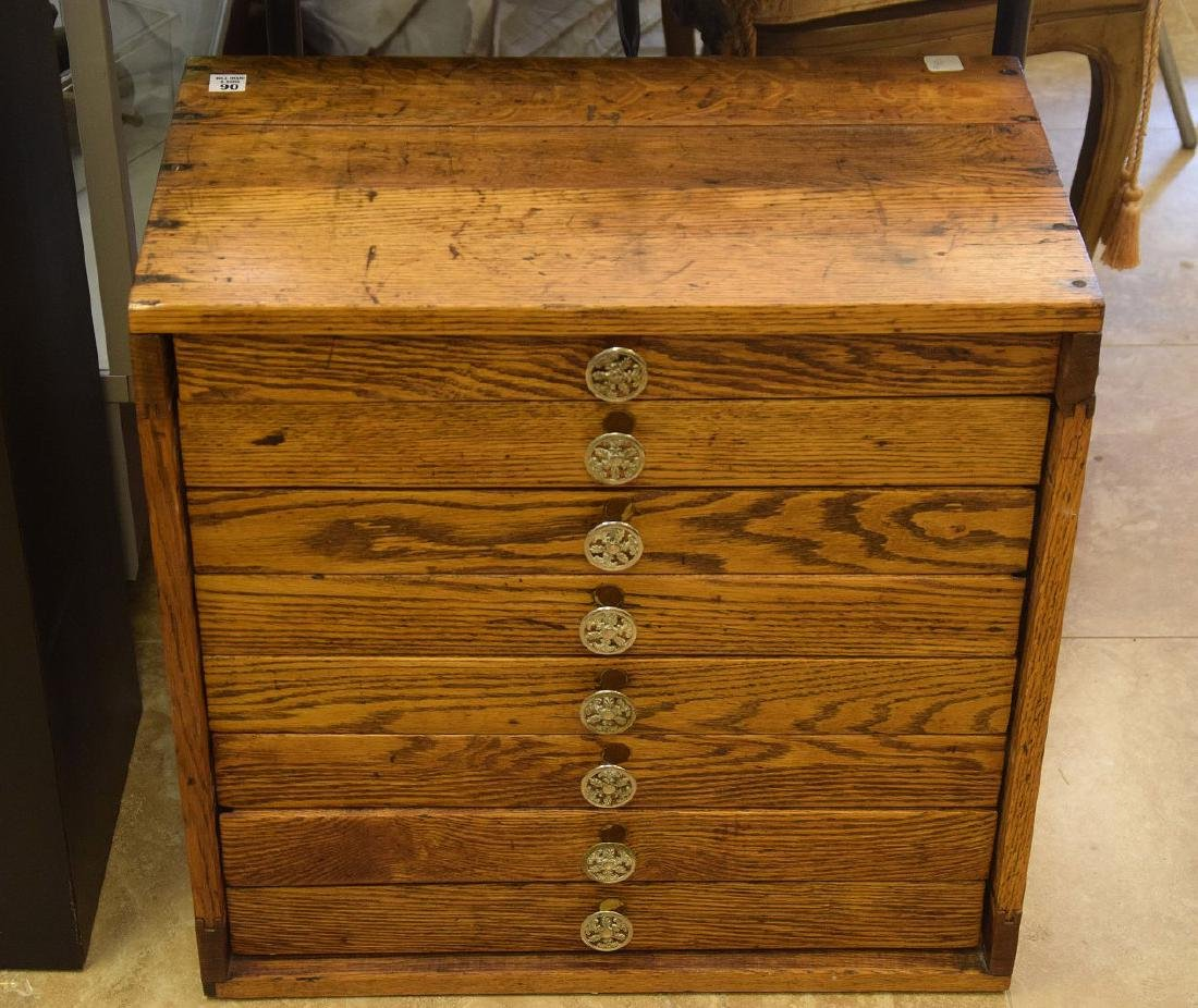 Vintage 8 drawer specimen cabinet, divided for jewelry,