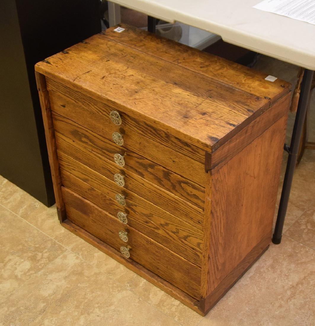 Vintage 8 drawer specimen cabinet, divided for jewelry, - 2