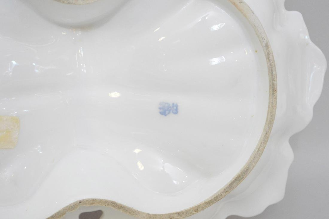 "Herend porcelain 4 section serving dish (5 1/2""h to top - 10"