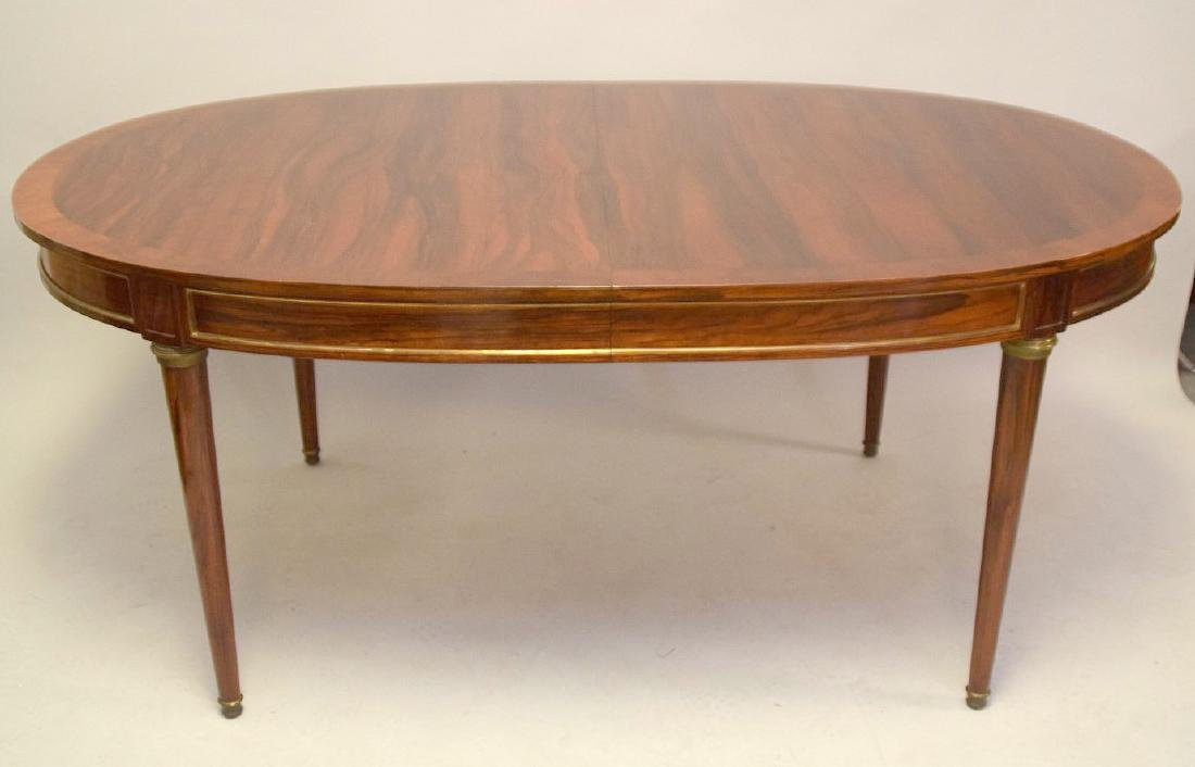 Louis XVI Style Rosewood Oval Dining Table  Oval top