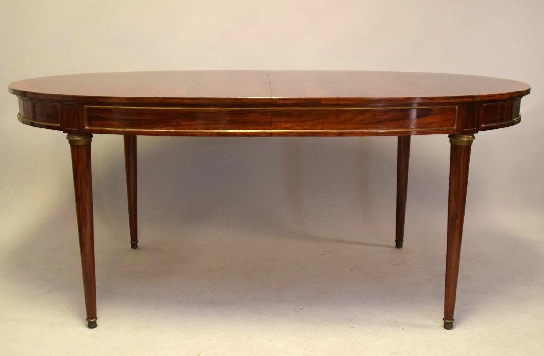 Louis XVI Style Rosewood Oval Dining Table  Oval top - 2