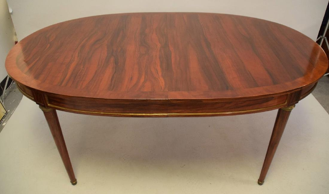 Louis XVI Style Rosewood Oval Dining Table  Oval top - 3