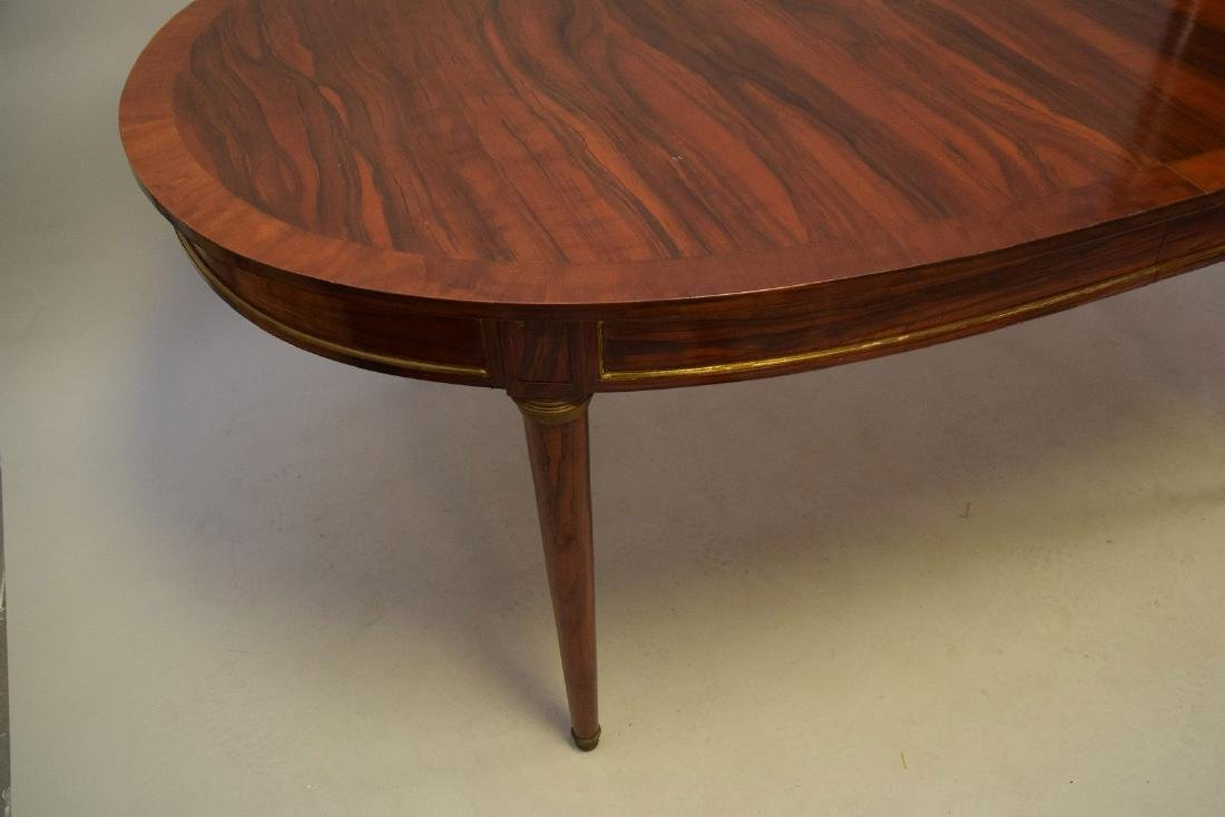 Louis XVI Style Rosewood Oval Dining Table  Oval top - 4