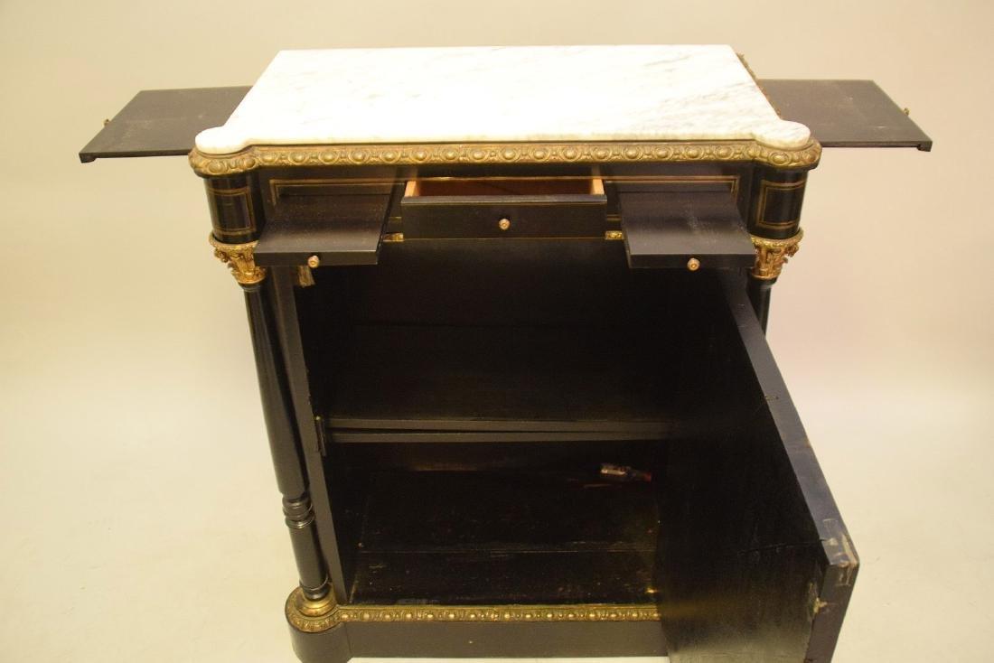 French Louis Phillippe/Empire Style Ebonized, Hardstone - 4