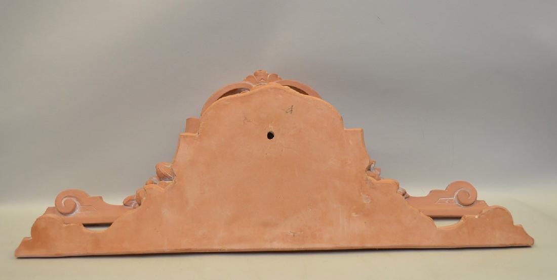 "Pair terracotta architectural lintels ""angels"", 32 - 3"