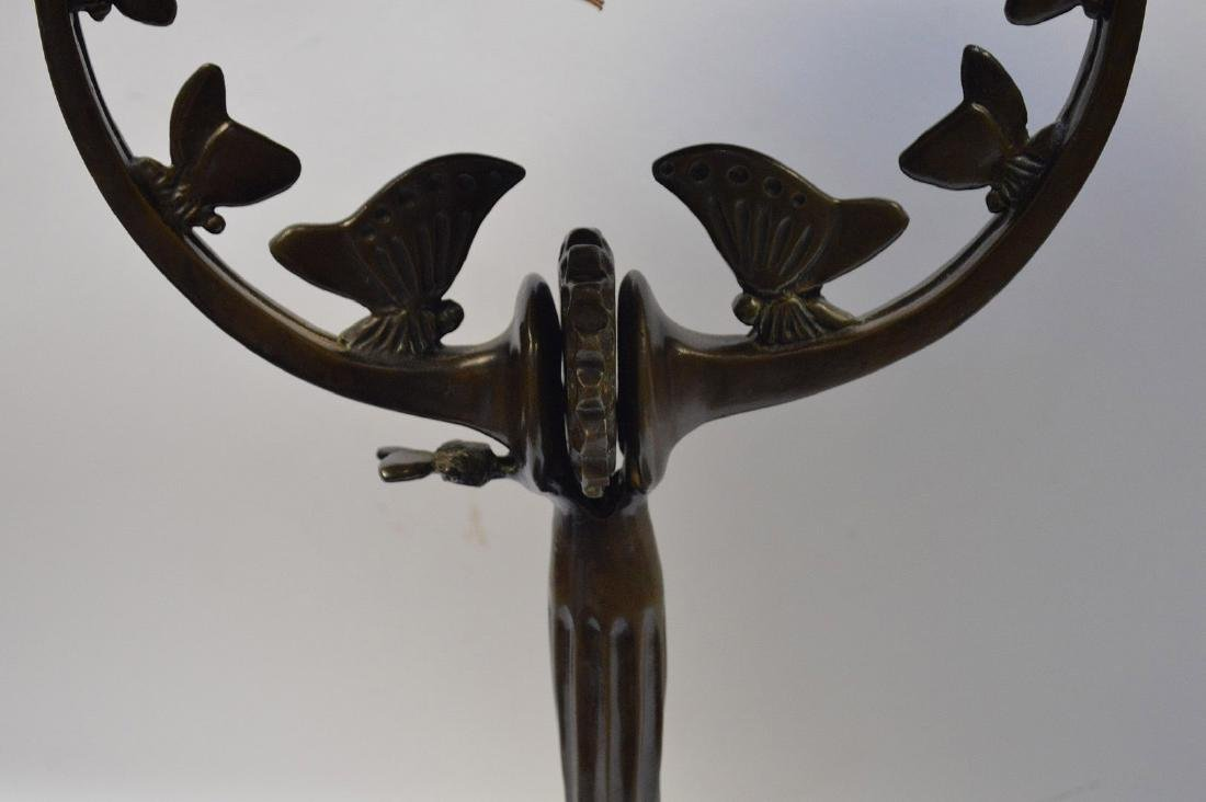 "Bronze lamp, after A. Rateau, 16""h (needs to be - 3"