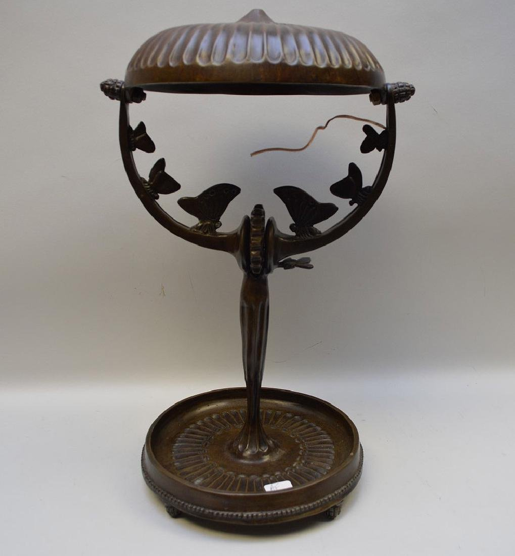 "Bronze lamp, after A. Rateau, 16""h (needs to be - 4"