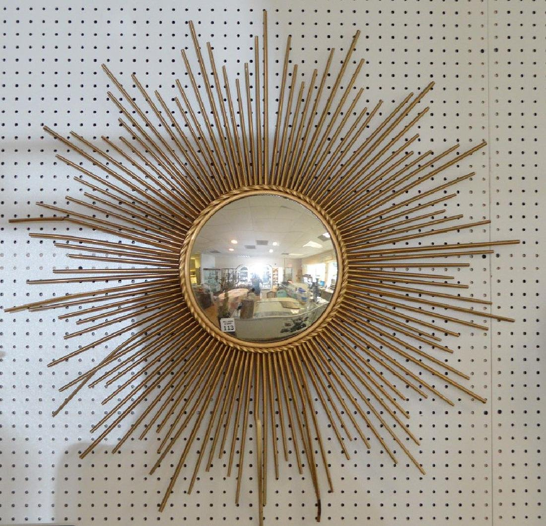 French style Chaty Vallauris mirror, metal rays
