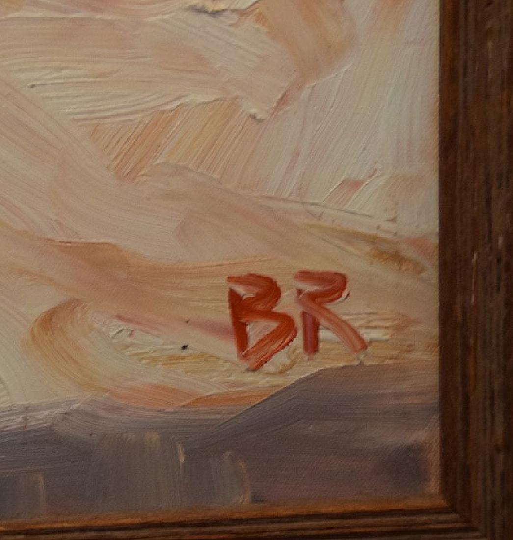 Original Painting, oil on board, Starfish, driftwood - 2