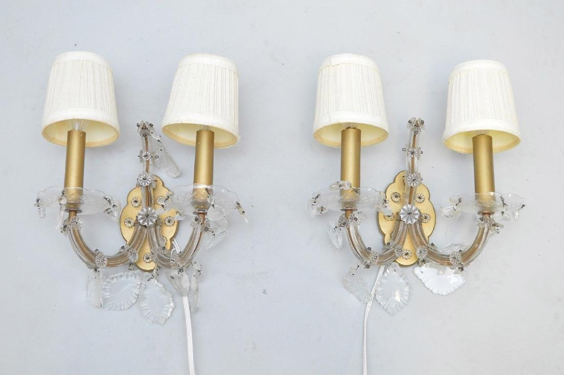 """Chandelier with crystal prisms (27""""h x 26""""w) and 6 - 2"""