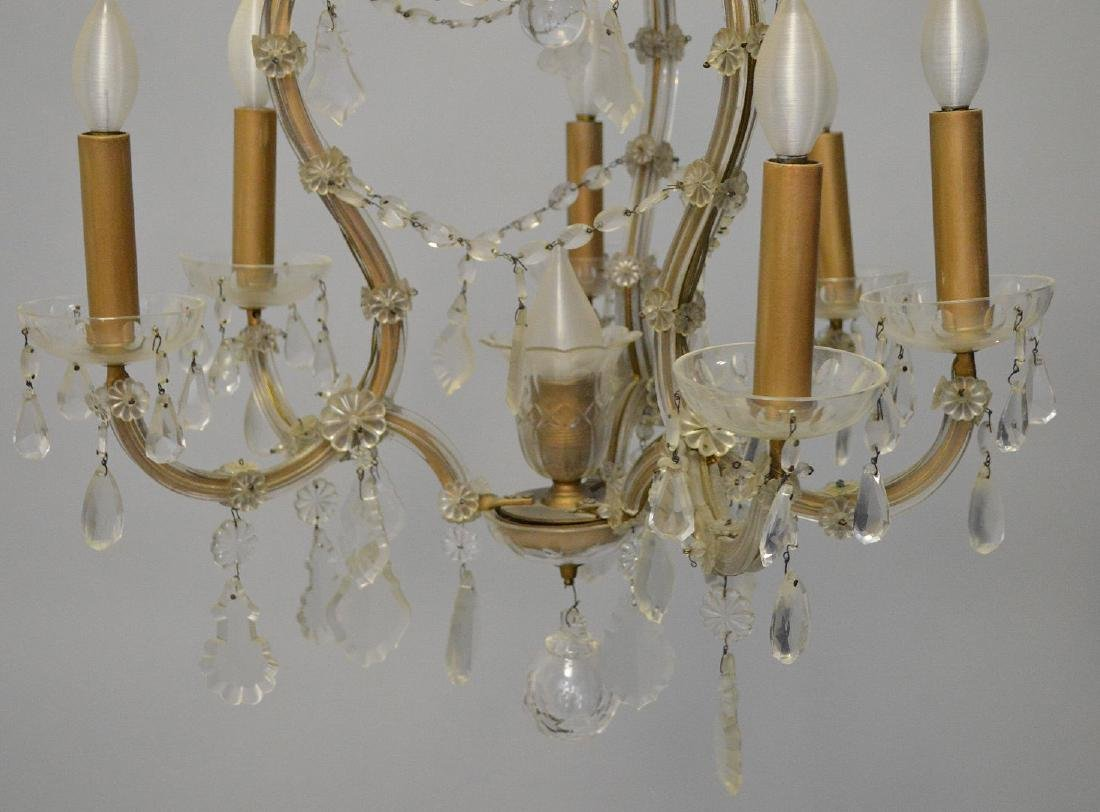 "Chandelier with crystal prisms (27""h x 26""w) and 6 - 7"
