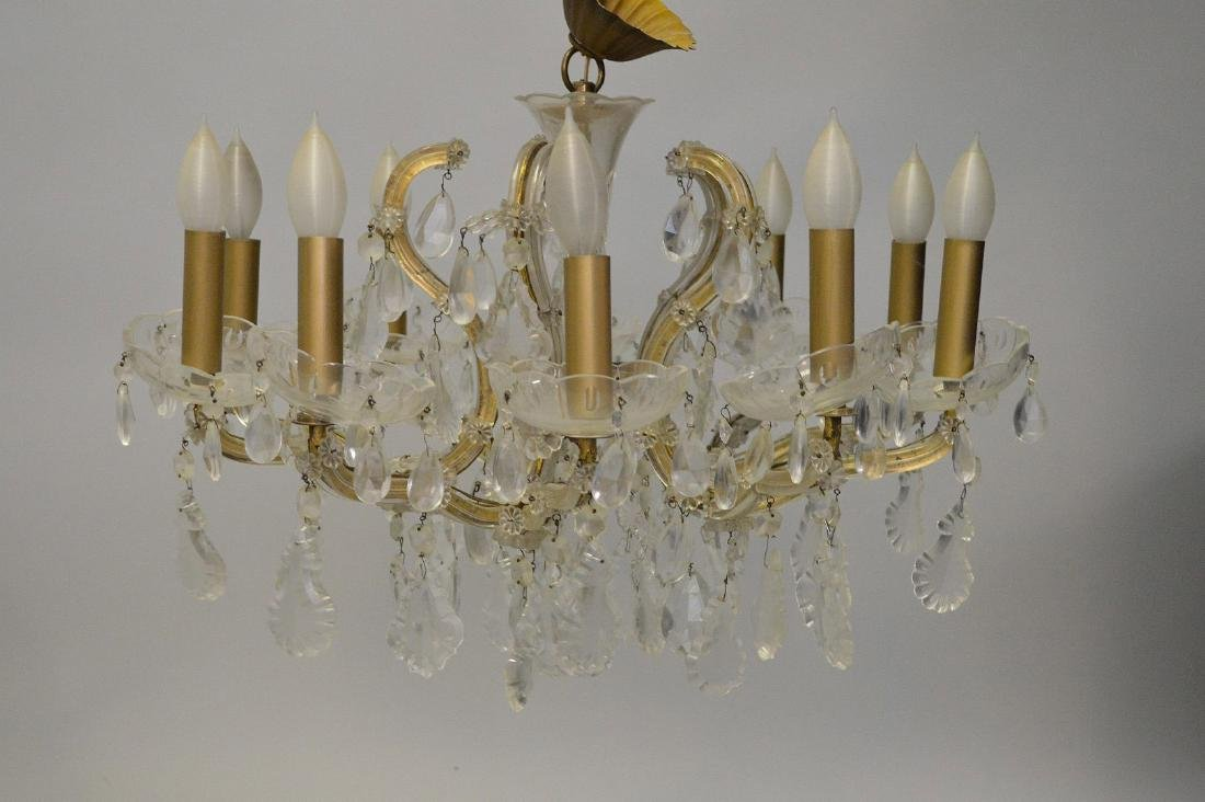 Crystal chandelier with 10 branch multiple crystal