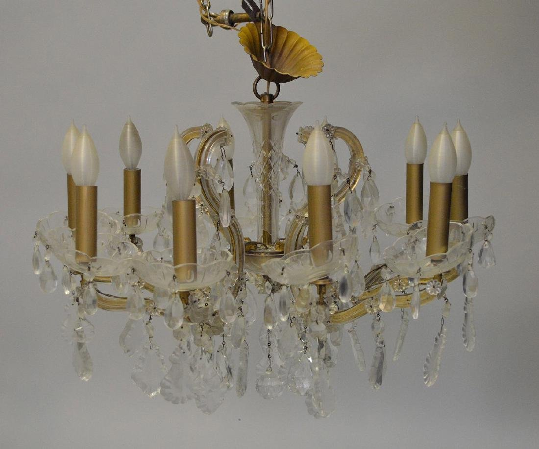 Crystal chandelier with 10 branch multiple crystal - 2