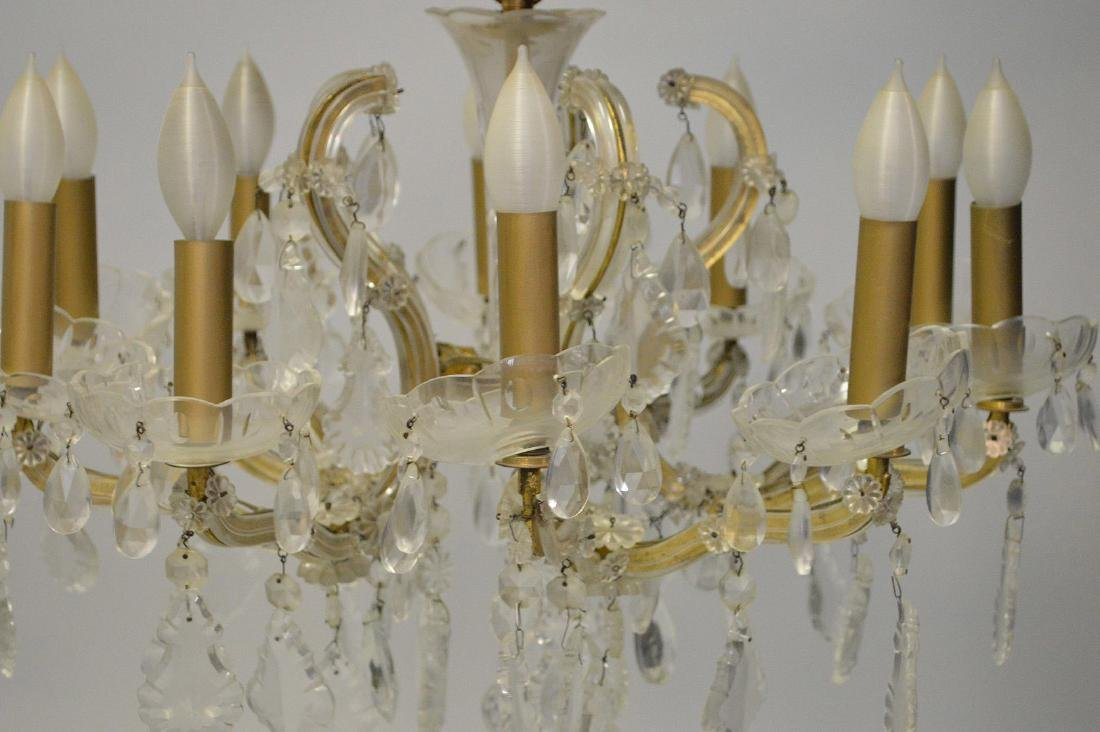 Crystal chandelier with 10 branch multiple crystal - 3