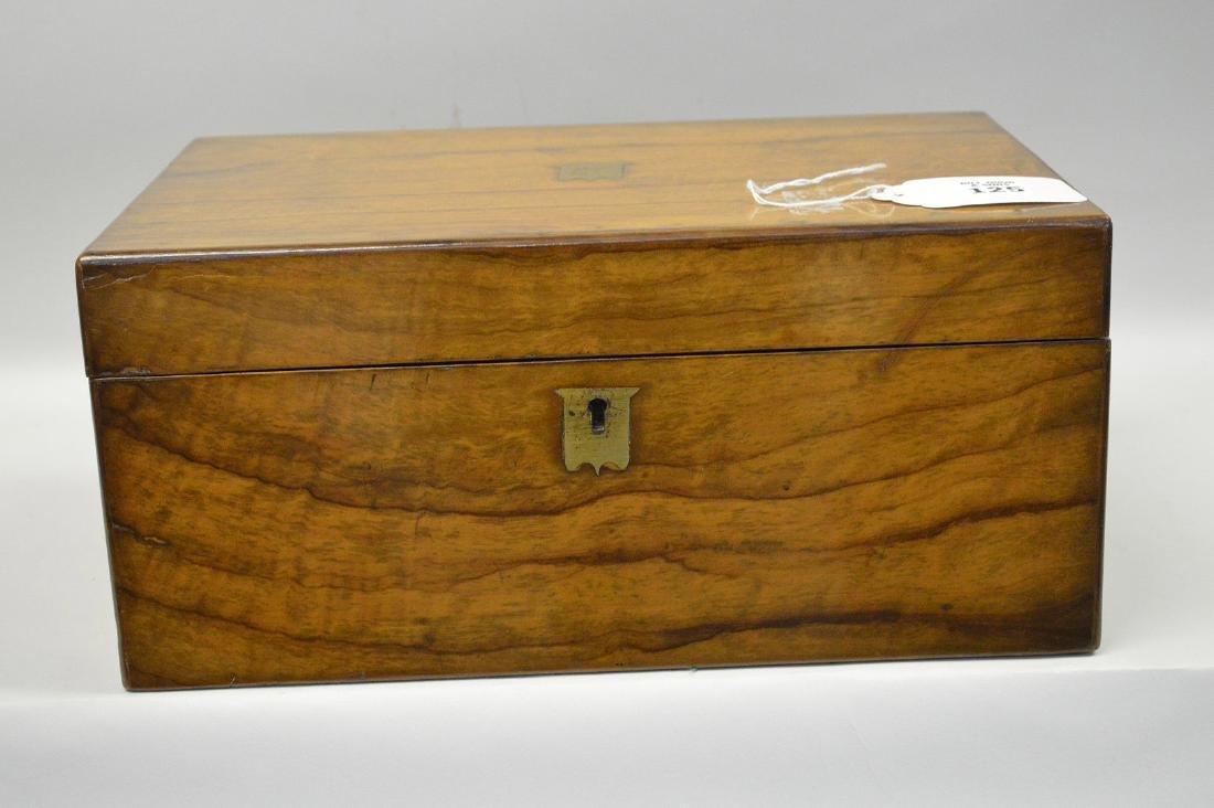 """19th century maple lap desk, interior complete, 6 1/2""""h"""