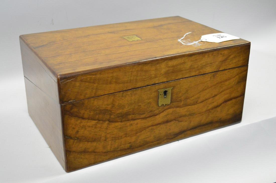 """19th century maple lap desk, interior complete, 6 1/2""""h - 2"""