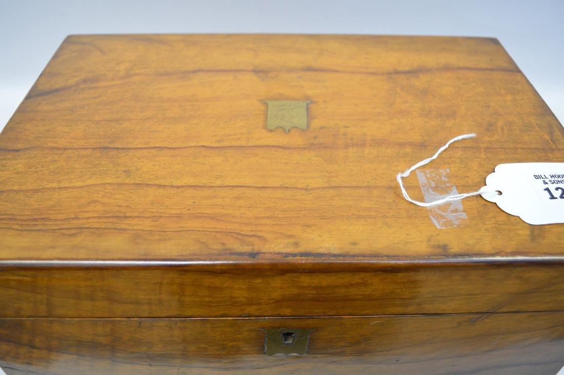 """19th century maple lap desk, interior complete, 6 1/2""""h - 3"""
