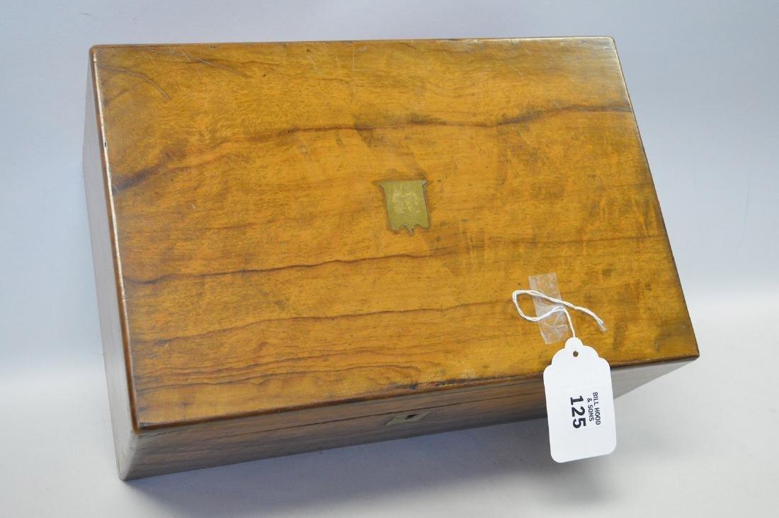 """19th century maple lap desk, interior complete, 6 1/2""""h - 4"""