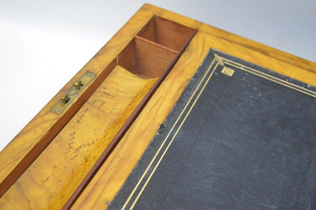 """19th century maple lap desk, interior complete, 6 1/2""""h - 6"""