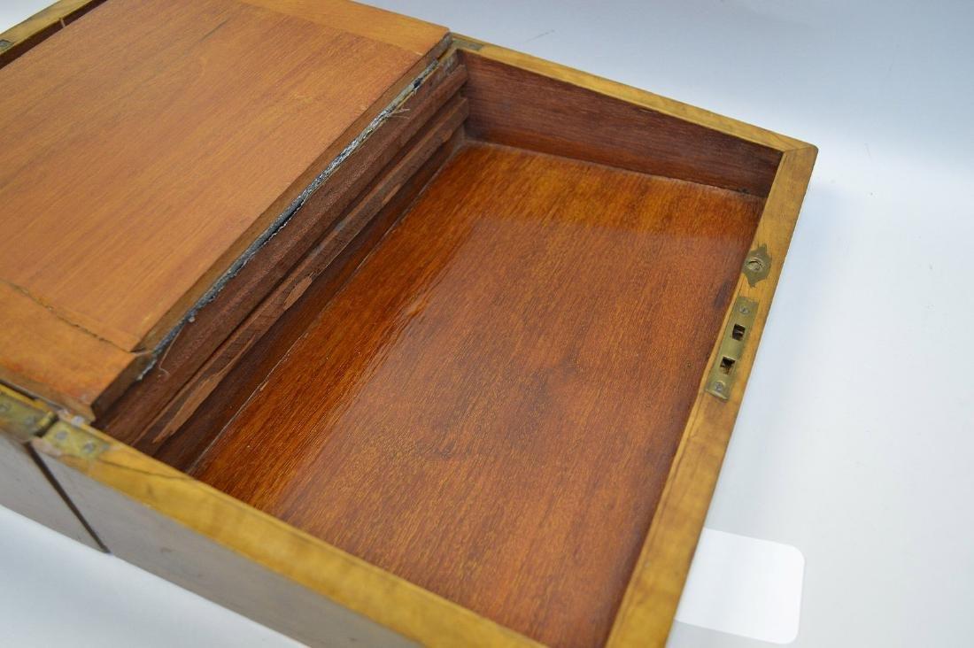 """19th century maple lap desk, interior complete, 6 1/2""""h - 7"""