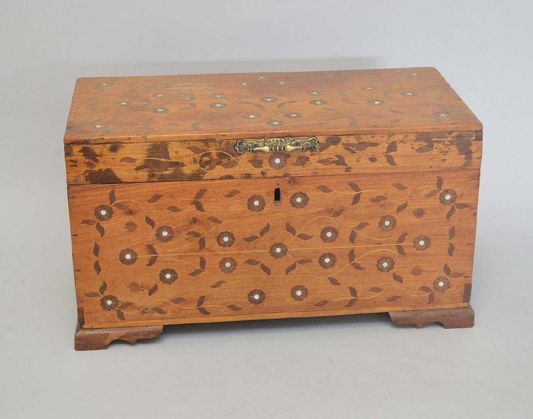 "Continental inlay trunk, 17""h x 30""w"