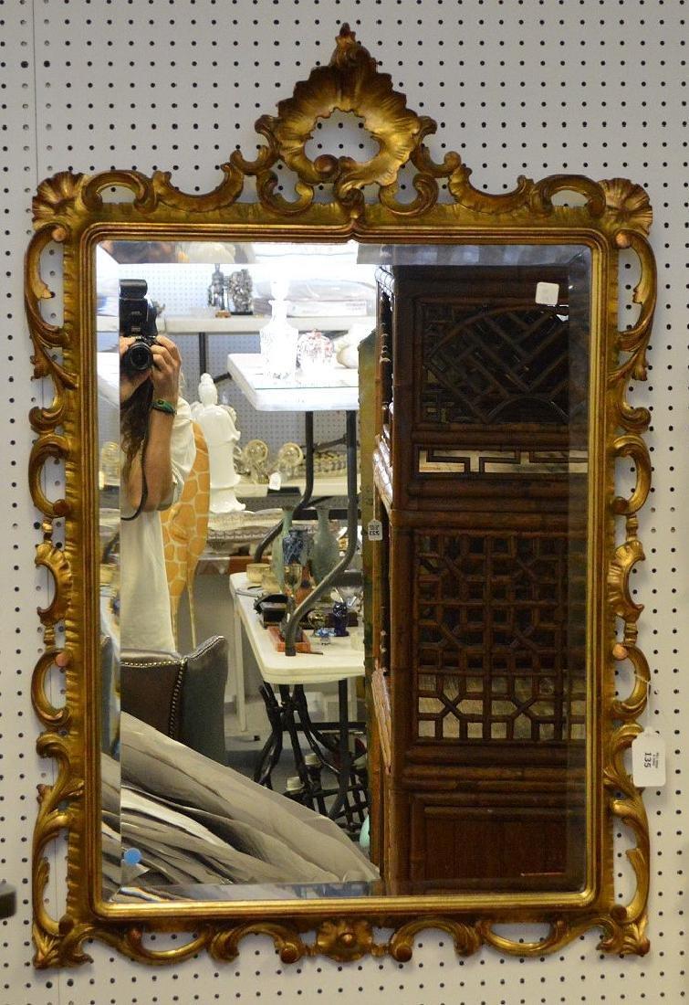 "Giltwood beveled mirror, 45""h x 31""w - 2"
