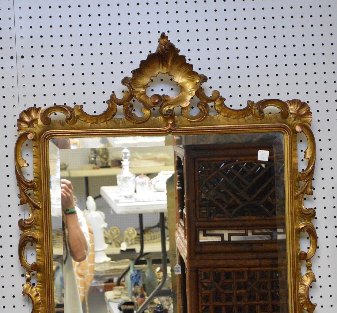 "Giltwood beveled mirror, 45""h x 31""w - 3"