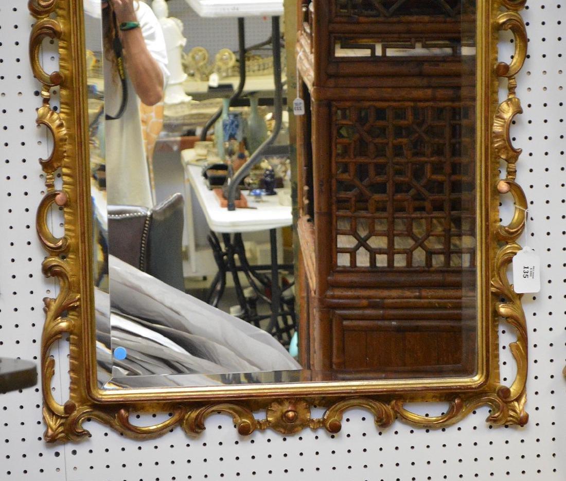 "Giltwood beveled mirror, 45""h x 31""w - 4"