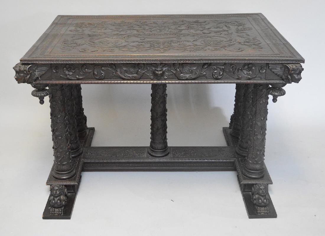 19th Century Italian elaborately carved walnut