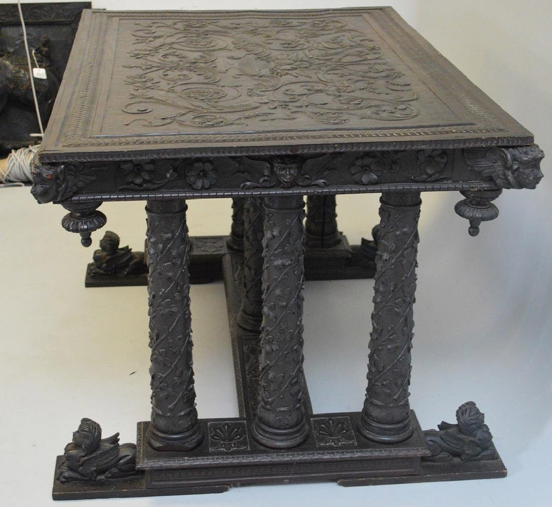 19th Century Italian elaborately carved walnut - 5