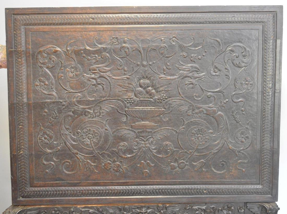 19th Century Italian elaborately carved walnut - 8