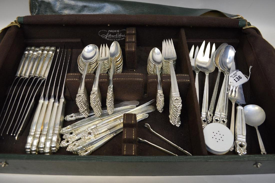Royal Danish Sterling Silver Flatware Service for