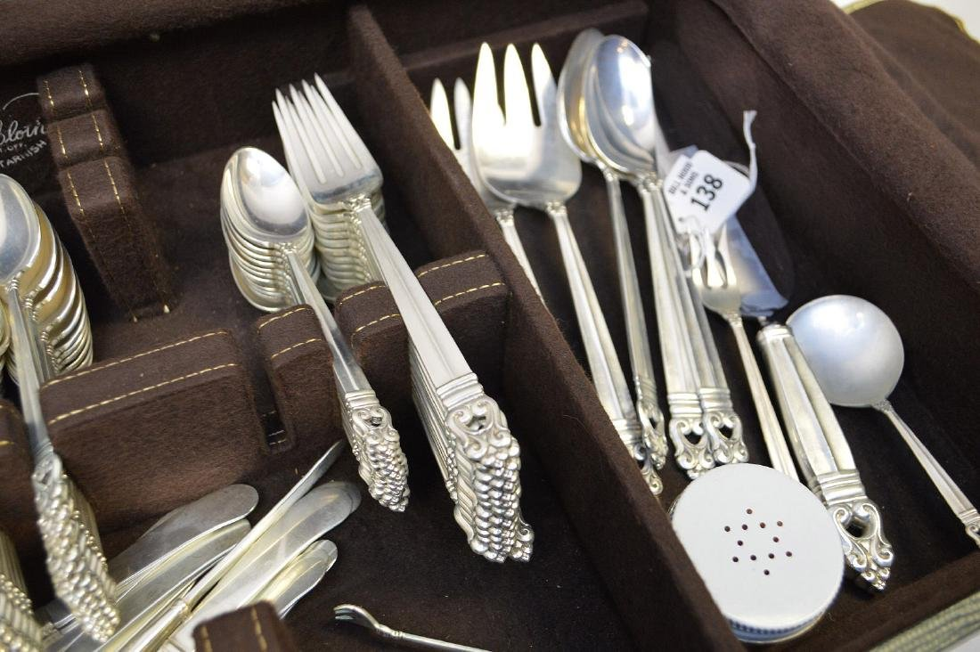 Royal Danish Sterling Silver Flatware Service for - 4