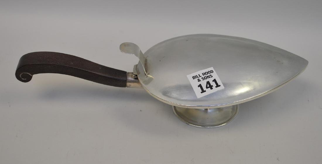 Mexican 925 Sterling Silver Leaf-form Footed Lidded