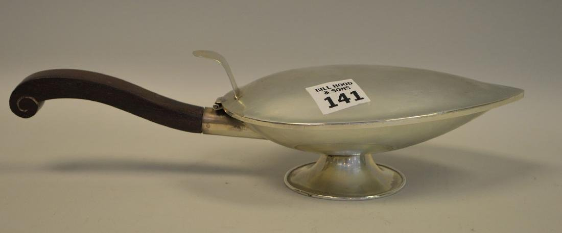 Mexican 925 Sterling Silver Leaf-form Footed Lidded - 2
