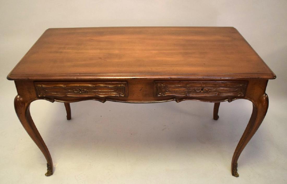 French Walnut Bureau Plat / Ladies Desk 20th Century,