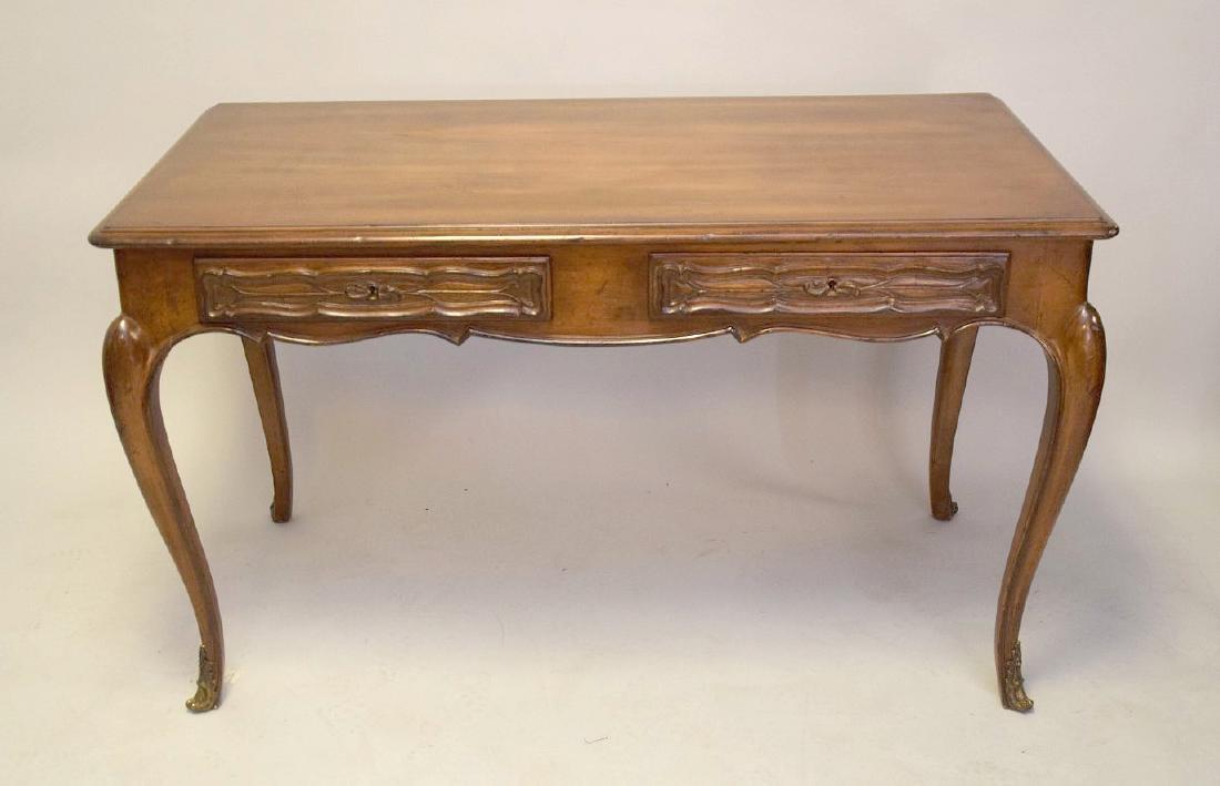 French Walnut Bureau Plat / Ladies Desk 20th Century, - 2