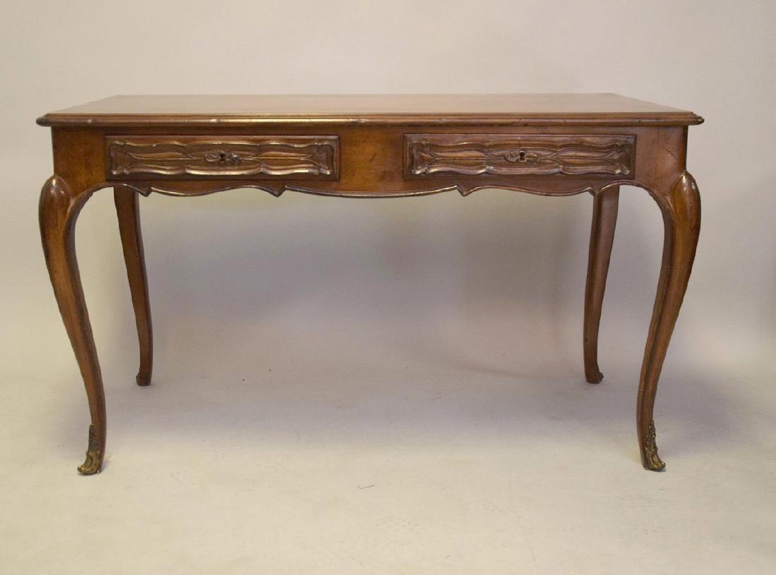 French Walnut Bureau Plat / Ladies Desk 20th Century, - 5