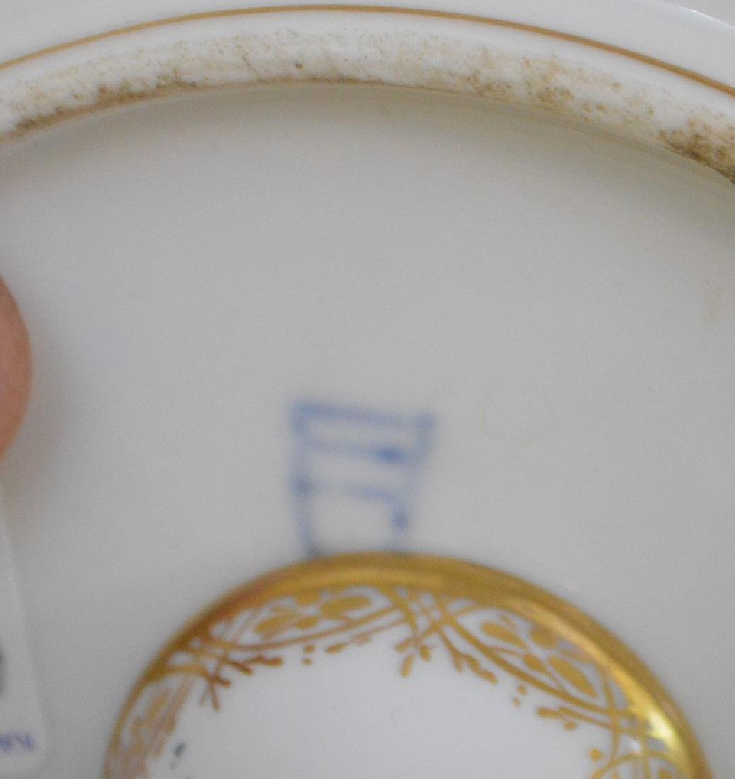 3 pieces of Porcelain; 1 Royal Vienna compote with - 11